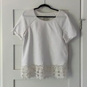 Anthropologie White Blouse